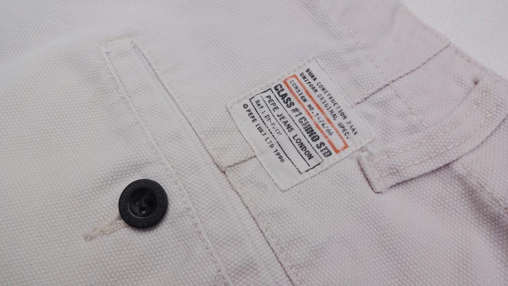 Pepe jeans. джинсовые белые шорты из англии. ххl. толстенькие и качественные! фото №3