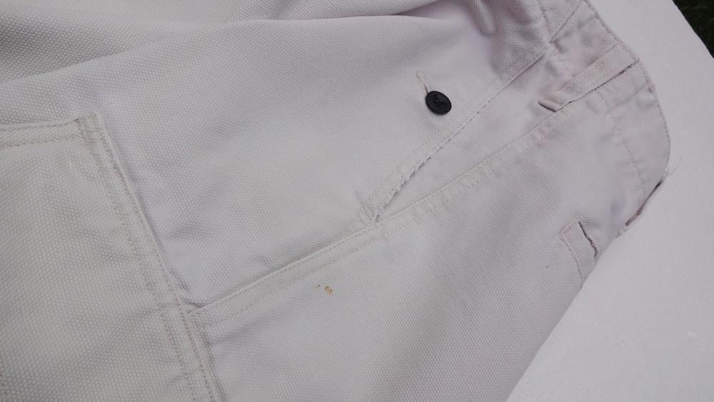 Pepe jeans. джинсовые белые шорты из англии. ххl. толстенькие и качественные! фото №8