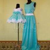Нарядное платье Мама+Дочка Меган код. 500-186
