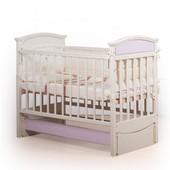 Гарантия 2 года! Кроватка для новорожденных Kiddy цвет №3, укр. производитель