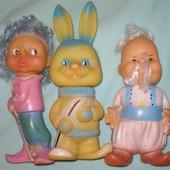 462. Кукла резиновая зайчик, буратино, козак времен СССР