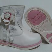 Утепленные демисезонные ботиночки для девочек 13.5-16.5 см