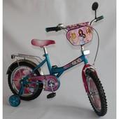 Детский велосипед 16 BT-CB-0021 Барби голубой с розовым