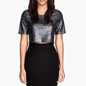 Блузка в пайетки H&M р.L футболка