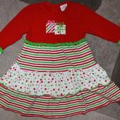 Нарядное теплое платье Luigi на 3 года. Состояние нового.