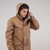 Куртка мужская демисезонная с капюшоном, Парка