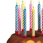 Магические, незадуваемые, негаснущие свечи для торта, набор из 10 шт.  в наличии.