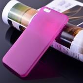 ультра тонкий матовый прозрачный  чехол для iPhone  6