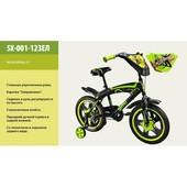 Велосипед 2-х колес 12'' SX-001-12Зеленый