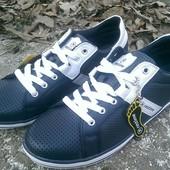 Спортивные туфли Restime т. синего цвета с перфорацией