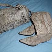 продам сумку и с крокодильей кожи сапоги