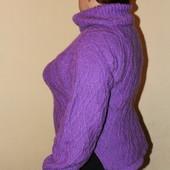 Новый Вязаный свитер с хомутом (Handmade). Размер 50-52 (см. замеры).