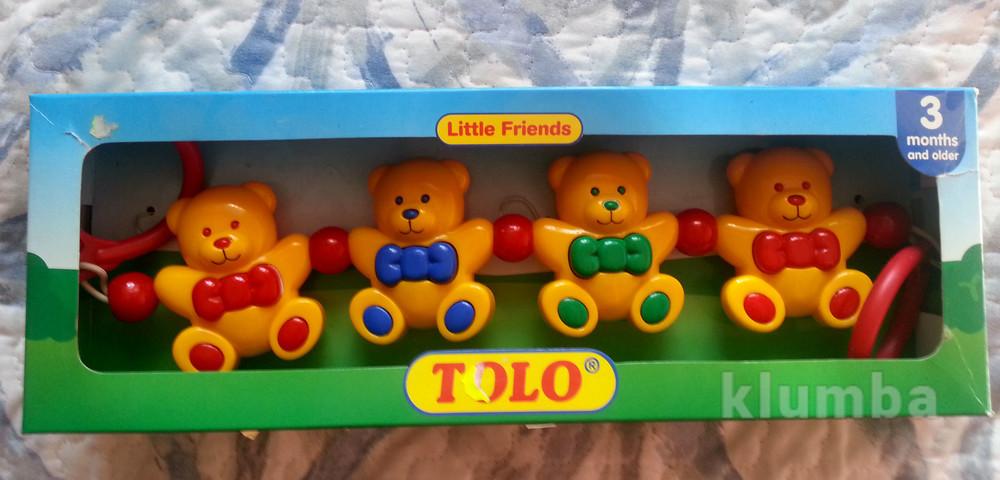 Іграшка на каляску, ведмедики на каляску фото №1