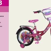 """Детский двухколесный велосипед 16"""" Розовый (171603) с зеркалом заднего вида"""