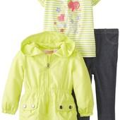 Комплект Kids Headquarters для девочки 3 в 1: куртка, футболка и штаны