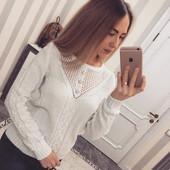 Красивый свитерок с украшением 42-46 (8