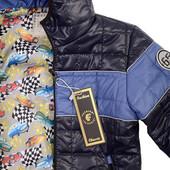 Демисезонная куртка для мальчика темно-синяя
