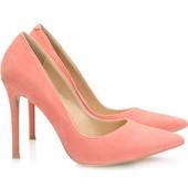 Туфли персикового цвета на высоком каблуке-шпильке