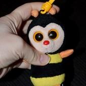 Глазастик симпатяга мягкая пчелка пчела брелок TY лупастик