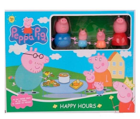 Набор свинка пеппа пикник. в набор входит посудка+ семья. фото №1