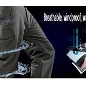 Ветрозащитные, влагостойкие штаны из эластичной ткани на флисе haki
