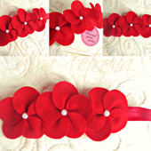 Повязка Лютики, повязка-венок, повязочка, веночек с цветами из фетра