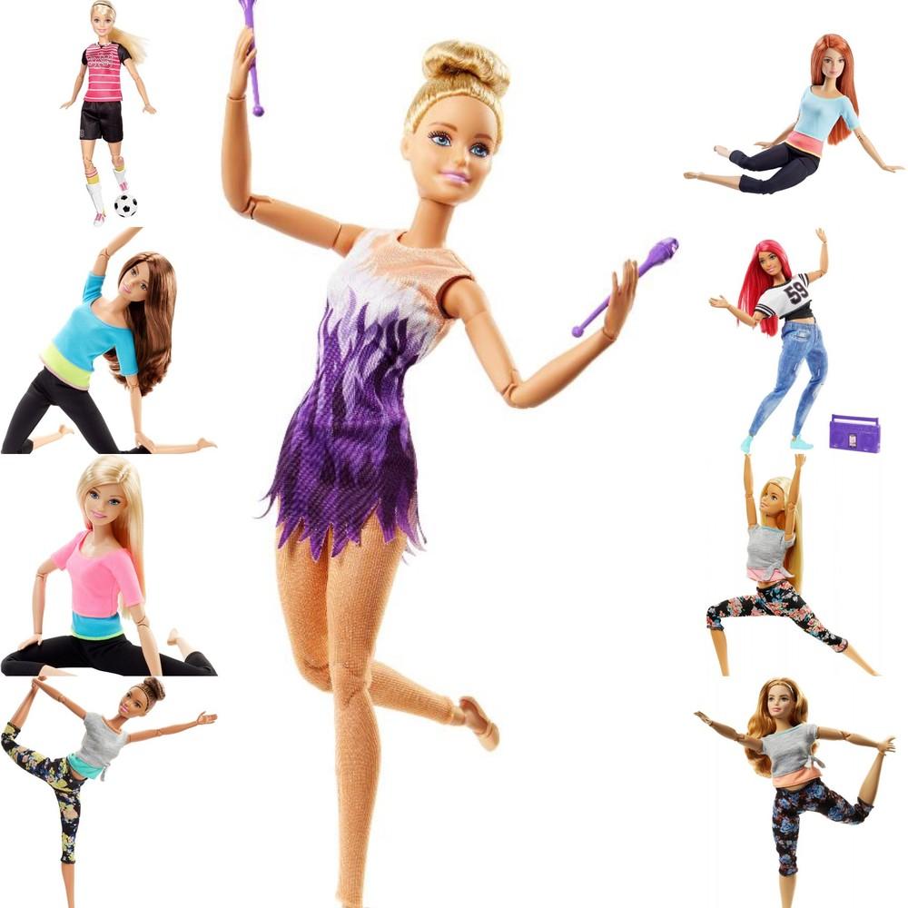 Суперновинка 22-шарнирная кукла барби йога barbie made to move фото №1