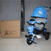Новинка! Велосипед трехколесный на надувных колесах Mars Mini Trike Голубой 960-2