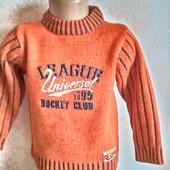 Теплый свитерок  для мальчика 4 -5 лет ( 104 -110)  Bonita