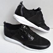 Качественная обувь на весну lacoste чёрные