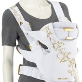 Красивенный рюкзак-переноска Cybex i go с жесткой спинкой три положения белый с золотыми нитками