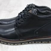 Зимние кожаные мужские ботинки(2124.25),р-ры 40-45,2 цвета!