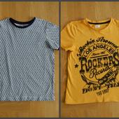 128-140 см Matalan как новая фирменная футболка хлопок. Длина - 51 см, ширина - 39 см. Без д