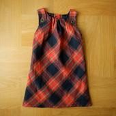 98-104 см Next как новый теплый фланелевый сарафан. Длина - 58 см, ширина под руками - 31 см, по низ