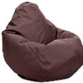Коричневое кресло-груша 100х75 см из микророгожки