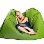Горчично-салатовое кресло-подушка 120х140 см из микророгожки