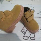 Натуральные зимние, деми ботинки детские