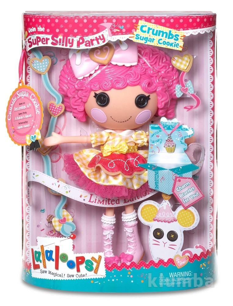 Lalaloopsy super silly party large doll- crumbs sugar cookie лалалупси печенюшка 33 см фото №1