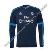 Футбольная футболка Реал Мадрид с длинным рукавом резервная 2015-2016 (1849)