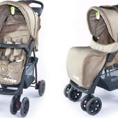 Прогулочная коляска tilly rover bt- sb-0006 light brown новая недорого