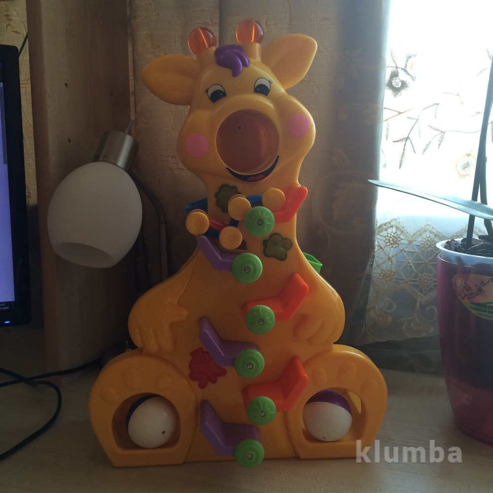 Жираф с машинками kiddieland фото №1