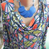 Платье L XL с асимметричным принтом