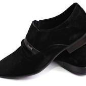 Классические туфли из натур замша № 515