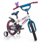 Доставка! Гарантия! Велосипед от 3х лет Azimut Fiber диаметр колёс 12, Бело-голубой, 00000097287