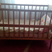Детская кроватка+матрас