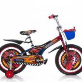 Гарантия! доставка! велосипед от 3 лет, Azimut Pilot, диаметр колёс 12, Тачки синий, 00000112088