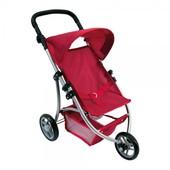 Трехколесная коляска для кукол (красная) Bino 82914