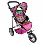 Трехколесная коляска для кукол, большая Bino 82912