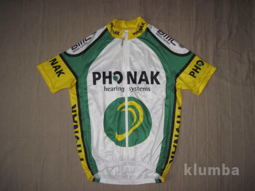 Phonak Cycling-Team (разм. S) велофутболка джерси мужская фото №1
