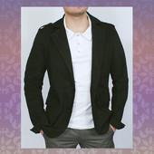 Новинка 2016! Стильный однотонный пиджак из плотной джинсовой ткани.